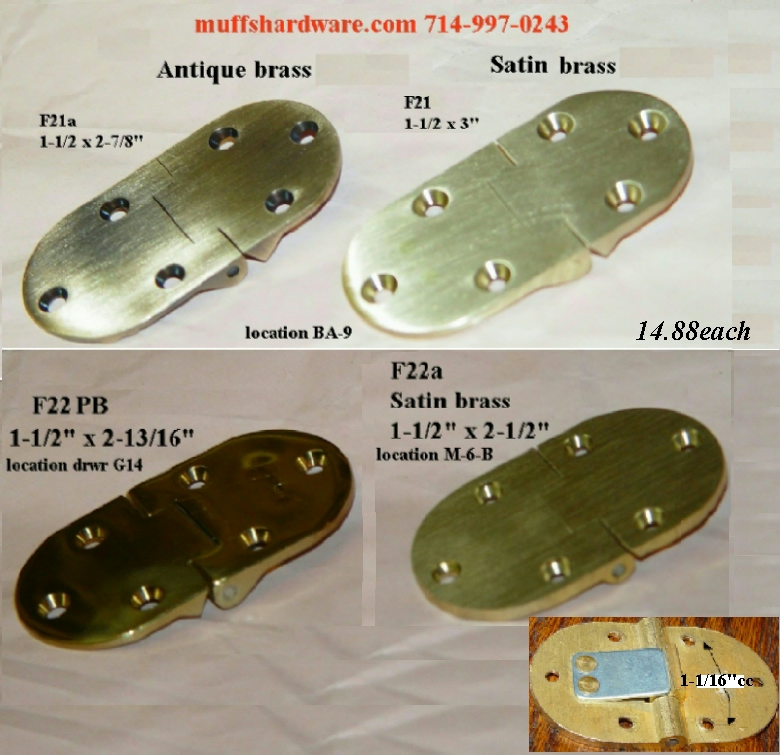 Butler Tray Hinges (rounded Ends)