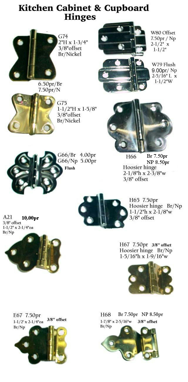 Old kitchen cabinet hinges - Kitchen Cabinet Parts Hinges