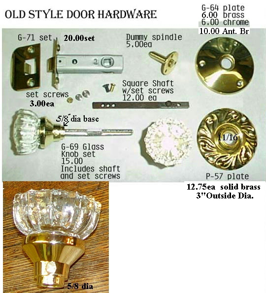 Old-Fashioned Door Hardware Parts ... - Hardware