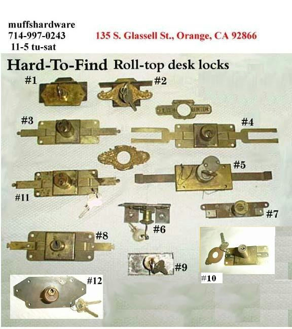 Hard-to-find roll-top locks - Locksandkeys